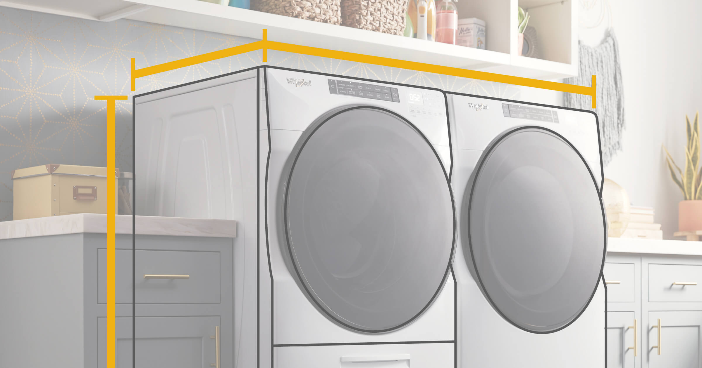 3 Steps To Find The Right Washer And Dryer Dimensions Whirlpool