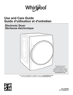Janus Whirlpool Dryer Use and Care Guide