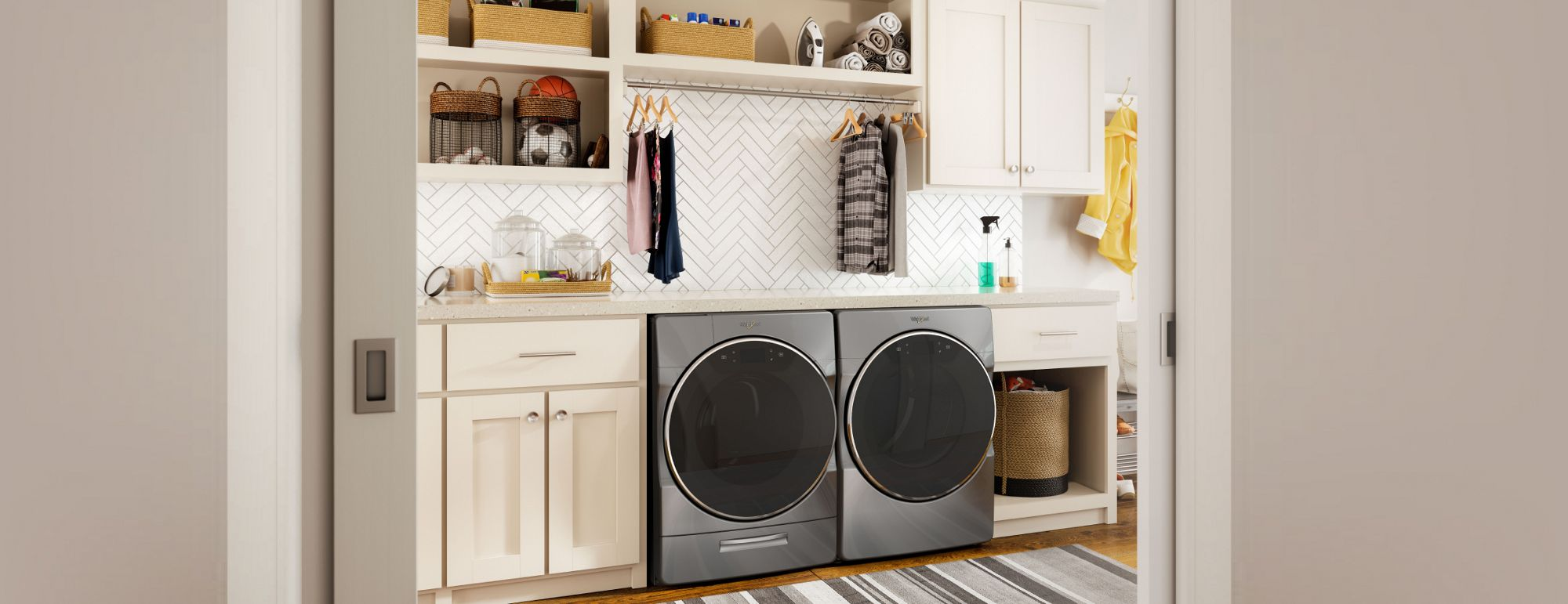 Explore Front Load Laundry Set Whirlpool