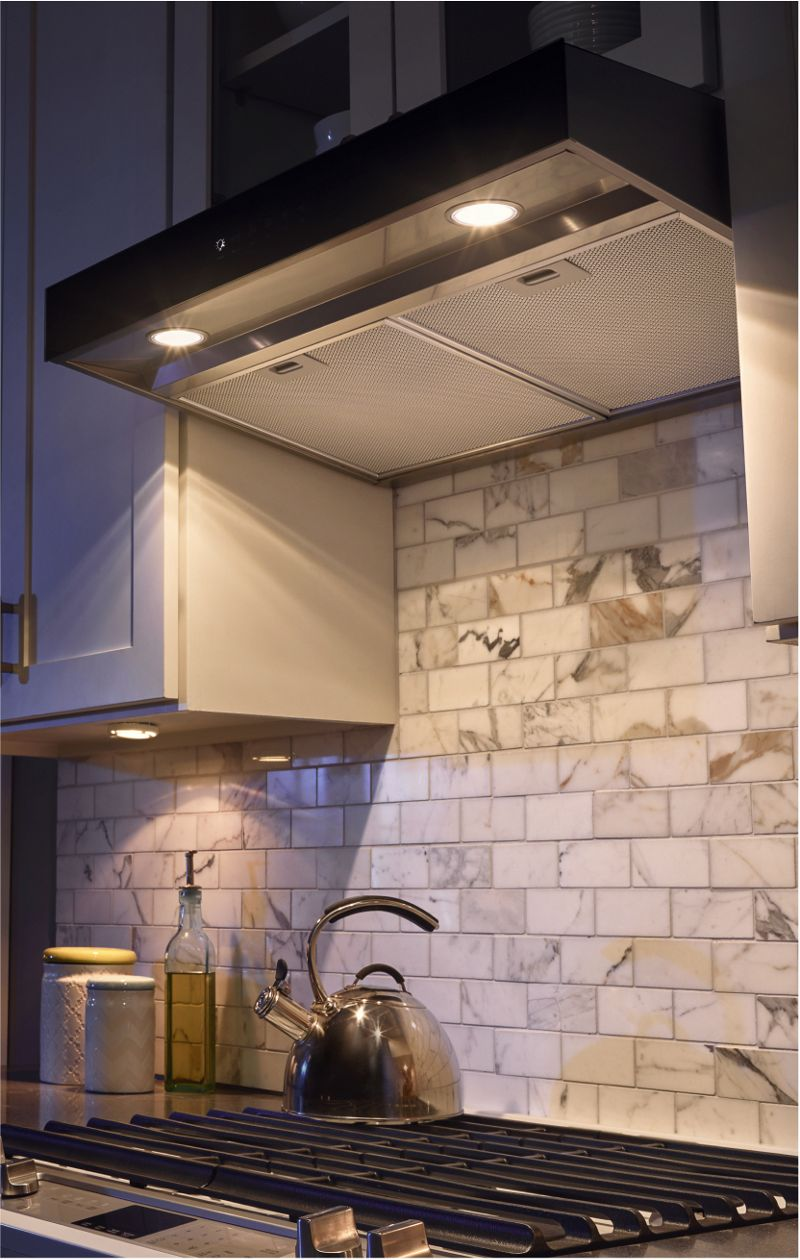 Under Counter Microwave For Easier Works: Kitchen Vent Hoods