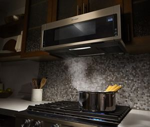 Introducing Our Low Profile Microwave Hood Combination.