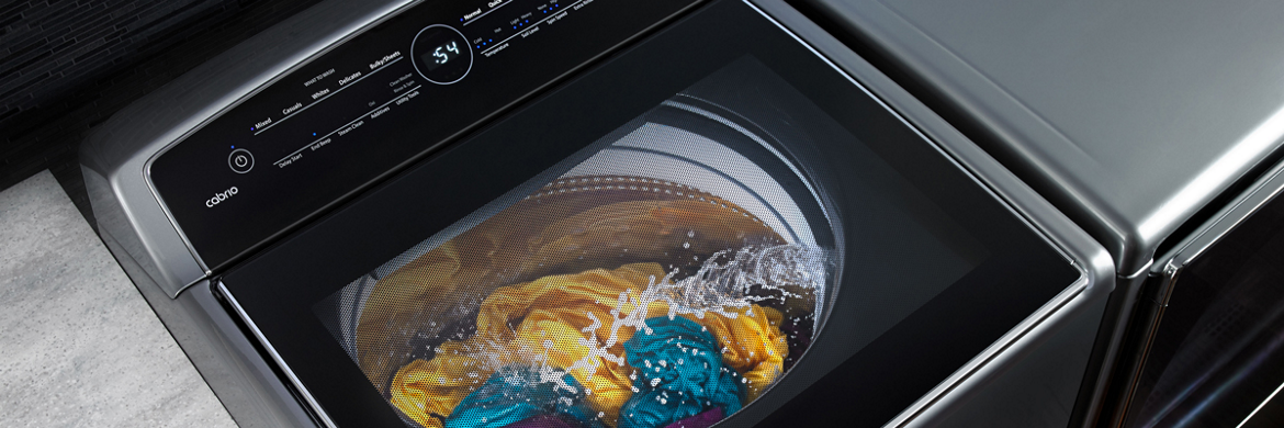 Discover top-of-the-line features on our touch screen washer and dryer set.