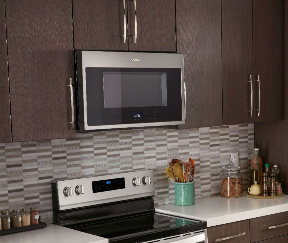 Whirlpool white ice over the range microwave - Smart Over The Range Microwave