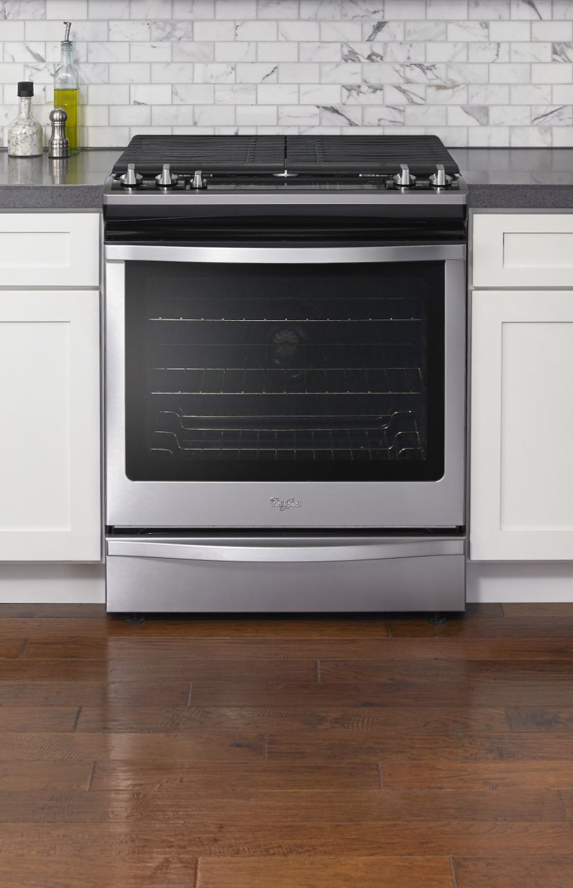 Side by side double oven gas stove - Put Food On The Table Fast With Convection Cooking In Whirlpool Range Ovens