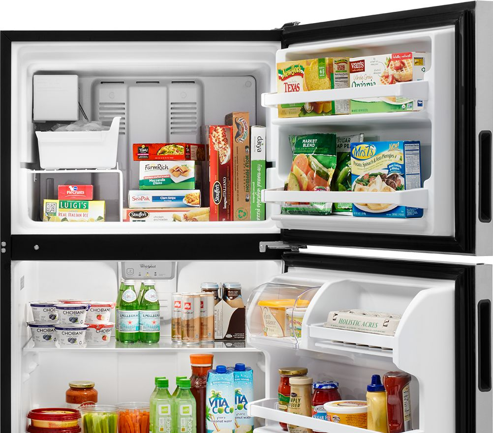 Commercial refrigerator for home use - Top Freezer Refrigerators Options From Whirlpool Provide Simplistic Storage