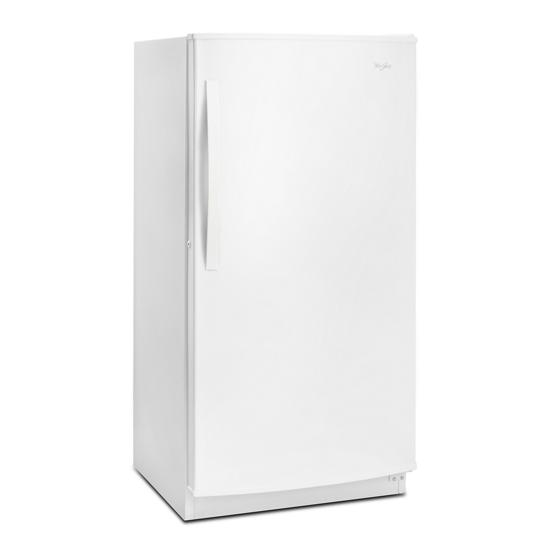 Model: WZF57R16FW   Whirlpool 16 cu. ft. Upright Freezer with Frost-Free Defrost