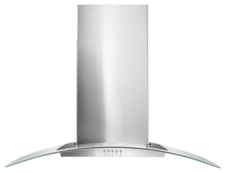 36 Quot Concave Glass Wall Mount Range Hood Whirlpool