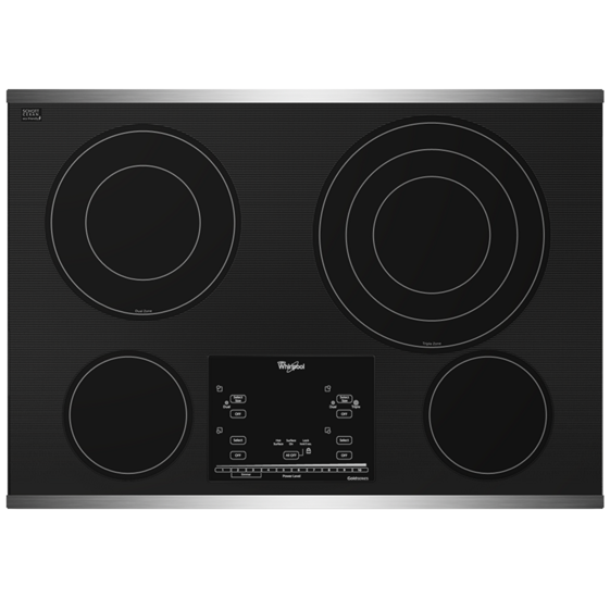 "Www Whirlpool Com >> Gold® 30-inch Electric Ceramic Glass Cooktop with 12""/9""/6"" Triple Radiant Element 