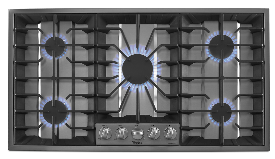 Where To Buy Wishlist · Gold® 36 Inch Gas Cooktop With Recessed Grate Design