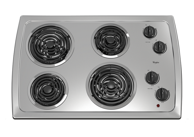 30 Inch Electric Cooktop With Stainless Steel Surface