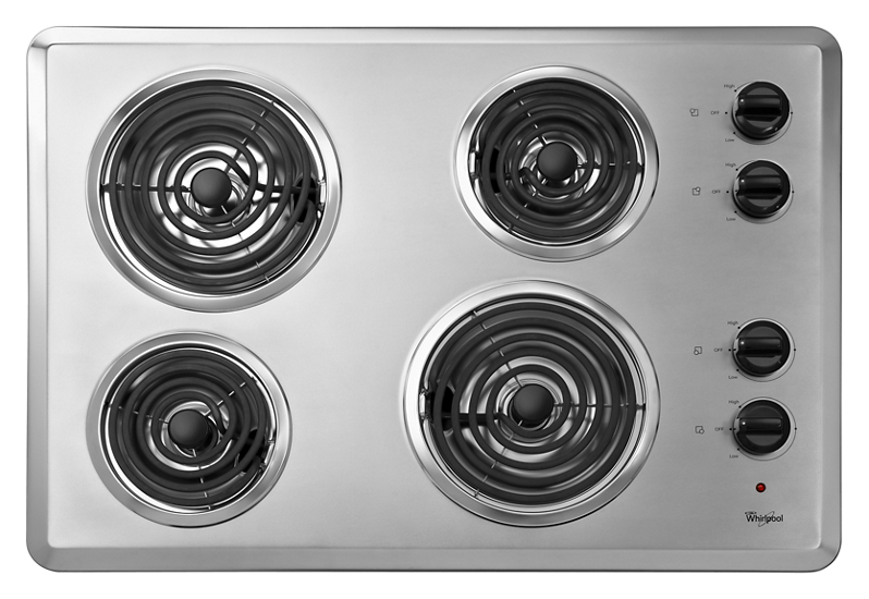 30 Quot Electric Cooktop With Dishwasher Safe Knobs Whirlpool