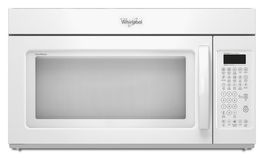 Gold 1 8 cu ft microwave range hood combination whirlpool for Microwave oven vent to exterior wall