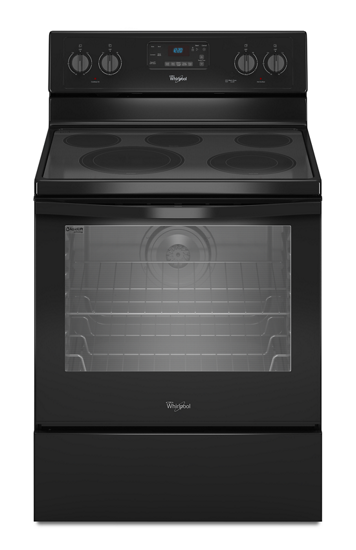 6 4 cu ft freestanding electric range with aqualift for Estufa electrica whirlpool