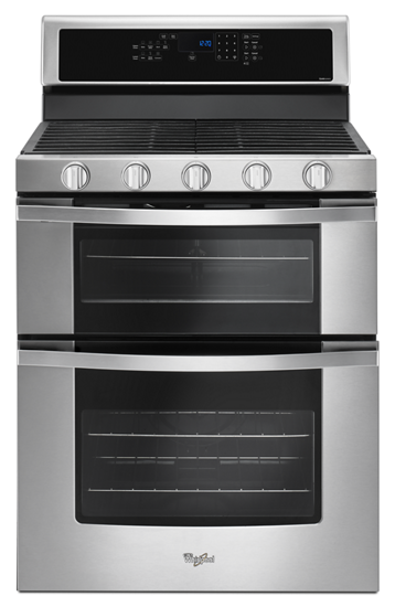 6 0 Cu Ft Gas Double Oven Range With Ez 2 Lift Hinged