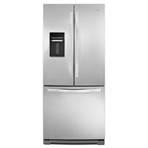36 Inch Wide French Door Refrigerator With Interior Water Dispenser 25 Cu Ft Whirlpool