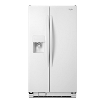whirlpool side by side refrigerator white. 36-inch wide side-by-side refrigerator with water dispenser - 25 cu whirlpool side by white